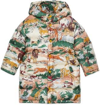 Gucci Children's Feline Delight print nylon jacket