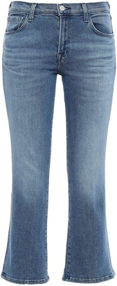J Brand Faded Mid-rise Kick-flare Jeans