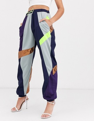 ASOS DESIGN 90's jogger with multi coloured panels