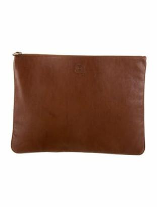 Ghurka Leather Folio Clutch Brown