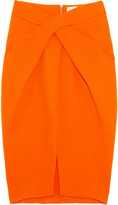 Dion Lee Laceration twist-front wool-crepe pencil skirt