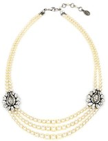 Ben-Amun Women's Faux Pearl & Crystal Station Necklace