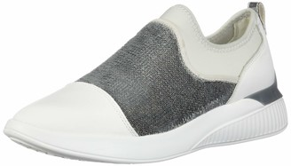 Geox Women's D Theragon A Low-Top Sneakers (White/Silver C0007) 7 UK