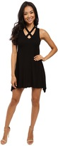 Culture Phit Marilla Sleeveless Swing Dress with Strap Detail