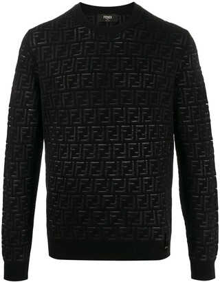 Fendi FF pattern crew neck jumper
