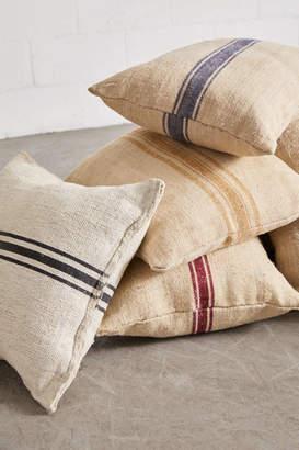 Urban Renewal Vintage Repurposed Grain Sack Pillow