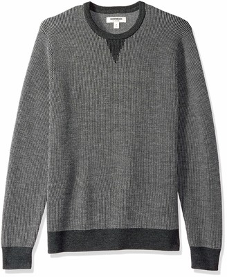 Goodthreads Men's Merino Wool Crewneck Birdseye Sweater