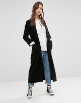 Boohoo Longline Belted Robe Coat