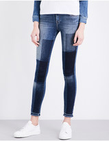 J Brand 811 patchwork skinny mid-rise jeans