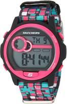 Skechers Women's Quartz Plastic and Nylon Casual WatchMulti Color (Model: SR6103)