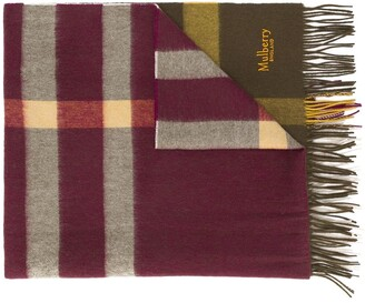Mulberry Checked Lambswool Scarf