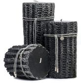 "Brunello Cucinelli Knit"" Candle with Cashmere Tie"