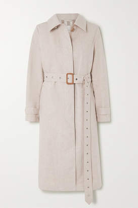 MACKINTOSH Roslin Belted Bonded Linen And Cotton Trench Coat - Beige