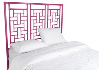David Francis Furniture Ohana Open-Frame Headboard Color: Hot Pink, Size: Queen
