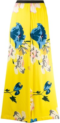 Antonio Marras Floral Print Wide-Leg Trousers