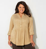 Avenue Perforated Faux Suede Shirt