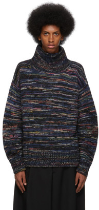 Dries Van Noten Black Wool Marled Sweater