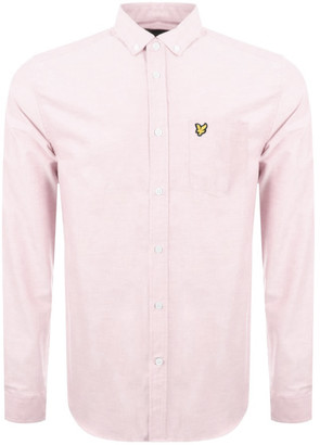 Lyle & Scott Oxford Long Sleeve Shirt Pink