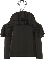 Emilio Pucci Tiered Ruffles Cold Shoulder Top