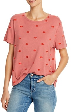 Splendid For The Love of Embroidered Lips Top