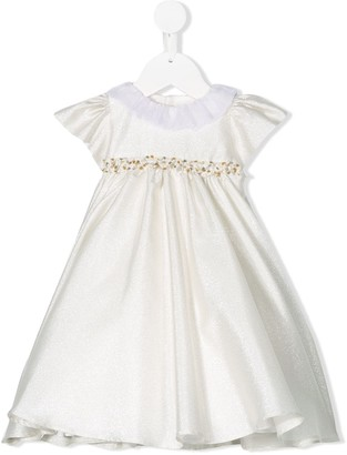 La Stupenderia Ruffled Neck Party Dress