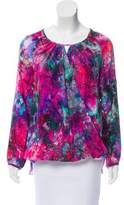 Amanda Uprichard Abstract printed Silk Top