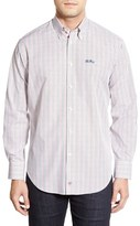 Thomas Dean 'Ole Miss Rebels' Regular Fit Long Sleeve Tattersall Sport Shirt
