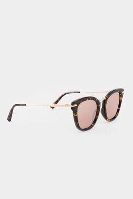 francesca's Alexis Leopard Cat Eye Sunglasses - Leopard