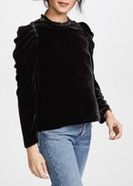 Ulla Johnson Gilles Velvet Blouse Black
