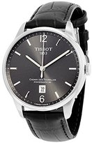 Tissot Men's 'Chemin Des Tourelles Powermatic 81' Swiss Automatic Stainless Steel and Leather Casual Watch, Color:Black (Model: T0994071644700)