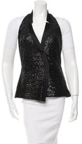 Veronica Beard Silk-Accented Sequined Vest w/ Tags
