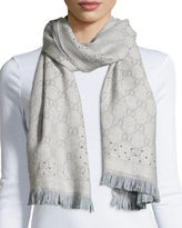 Gucci Studded GG Jacquard Scarf