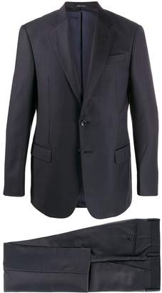 Giorgio Armani notched lapels textured suit