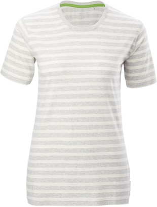 Kathmandu Striped Womens Short Sleeve Crew T-Shirt