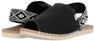 Reef Escape Sling Woven (Black/Cream) Women's Shoes