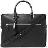 Saint Laurent Full-Grain Leather Briefcase