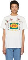 Gucci White Floral Logo T-shirt