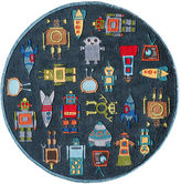 Momeni Lil Mo Robots Hand Tufted Round Rugs