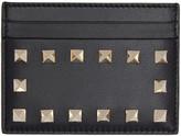 Valentino Black Rockstud Card Holder