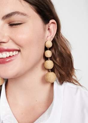 MANGO Wood pendant earrings
