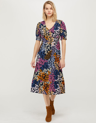 Under Armour Belle Floral Midi Dress with LENZING ECOVERO Blue