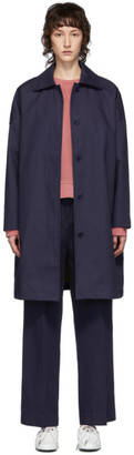YMC Navy Cocoon Coat