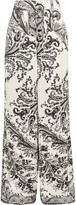 Etro Printed Crepe Wide-leg Pants - White