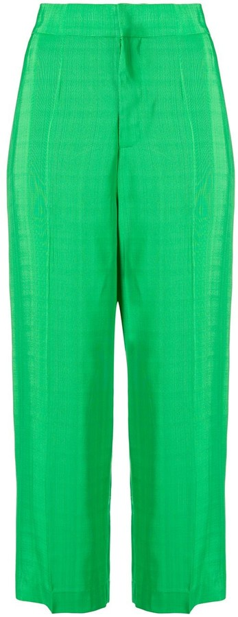 Cavallini Erika cropped high-waisted trousers