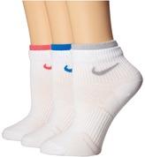 Nike Cotton Lightweight Quarter with Moisture Management 3-Pair Pack