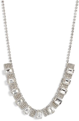 CRISTABELLE Crystal Pave Frontal Necklace