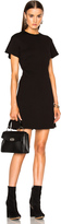 Proenza Schouler Double Face Wool A Line Dress with Back Lacing