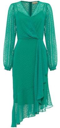 Phase Eight Elaina Flocked Spot Dress