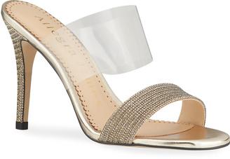 Allegra James Dance Two Band Stiletto Slide Sandals