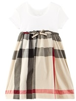 Burberry White and Check Dress